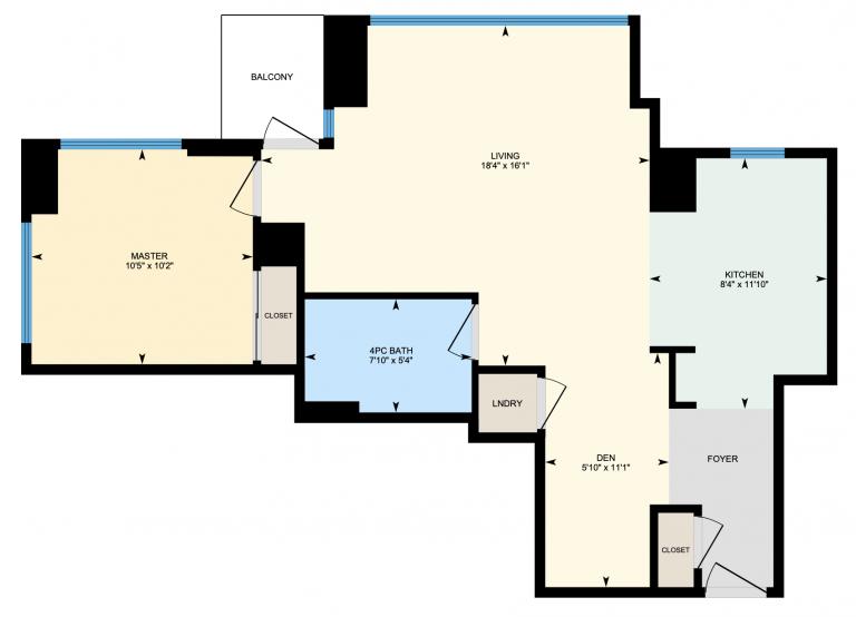 Floor Plan - 11 Brunel Crt Unit 3203